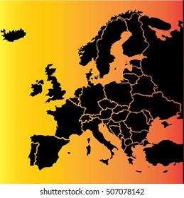 eu europa map vector