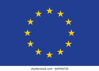 EU (European Union) Flag Illustration