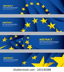 EU Flag Collection, European Union Flag, Europe Symbol (vector Art)