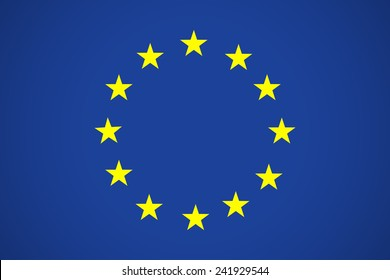EU Flag. Europe flag. Flag of European Union EU. Vector Icon Illustration For Your Business Presentations