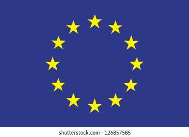 EU flag handdrawn