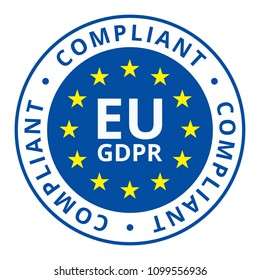 EU GDPR Compliant label illustration