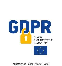 EU GDPR General Data Protection Regulation logo icon