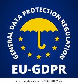 EU GDPR label illustration