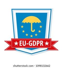 EU GDPR shield label illustration
