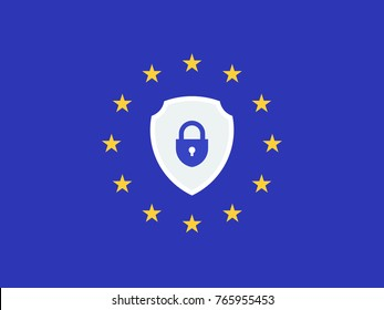 EU General Data Protection Regulation. eu gdpr vector illustration