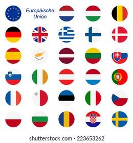 EU Member States - Flags round
