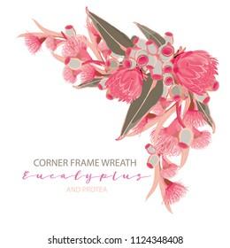 Eucalyptus corner frame wreath
