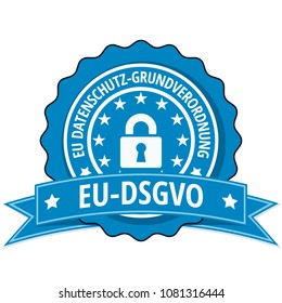 EU-DSGVO illustration label