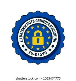 EU-DSGVO label illustration
