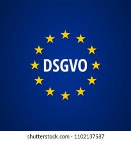 EU-DSGVO sign illustration