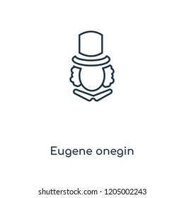 Eugene onegin concept line icon. Linear Eugene onegin concept outline symbol design. This simple element illustration can be used for web and mobile UI/UX.