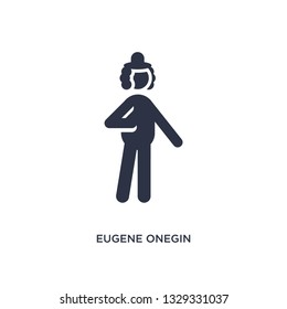 eugene onegin icon. Simple element illustration from literature concept. eugene onegin editable symbol design on white background. Can be use for web and mobile.
