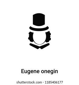 Eugene onegin icon vector isolated on white background, logo concept of Eugene onegin sign on transparent background, filled black symbol