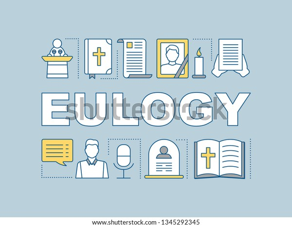Eulogy Word Concepts Banner Funeral Speech Stock Vector