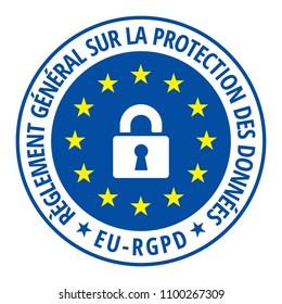 EU-RGPD sign illustration
