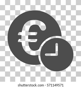 Euro Credit icon. Vector illustration style is flat iconic symbol, gray color, transparent background. Designed for web and software interfaces.
