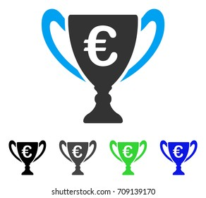 Euro Cup Vector Icon Style Is A Flat Graphic Symbol In Black Grey