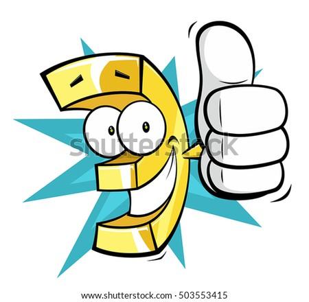 Euro Discount Funny Cartoon Stock Vector Royalty Free 503553415