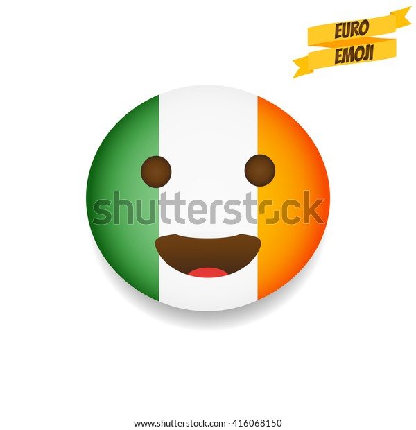 Euro Emoji Republic Ireland Flag Emoticon Stock Vector Royalty Free 416068150