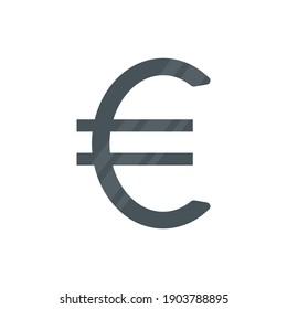 Euro icon. Money black symbol. Europe cash sign. Vector illustartion isolated on white
