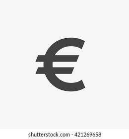 Euro Icon in trendy flat style isolated on grey background. Euro symbol for your web site design, logo, app, UI. Vector illustration, EPS10.