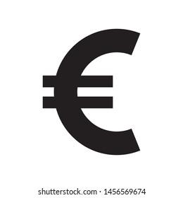 euro icon vector simple design