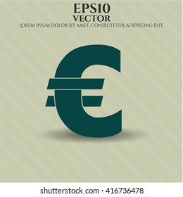 euro icon vector symbol flat eps jpg app web concept website