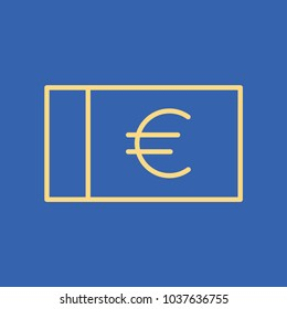 Euro line icon. Bill, greenback, bank note