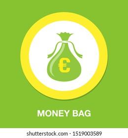 euro money bag icon, investment icon