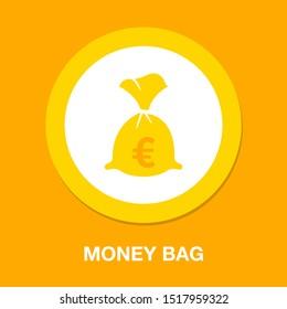 euro money bag illustration - vector euro symbol - money bag isolated