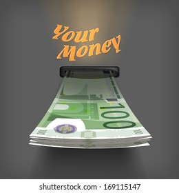Euro money. Vector Format