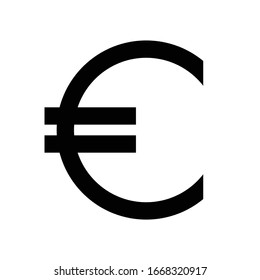 Euro regular symbol simple and minimal
