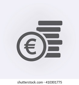 Euro sign . Money symbol . Vector illustration