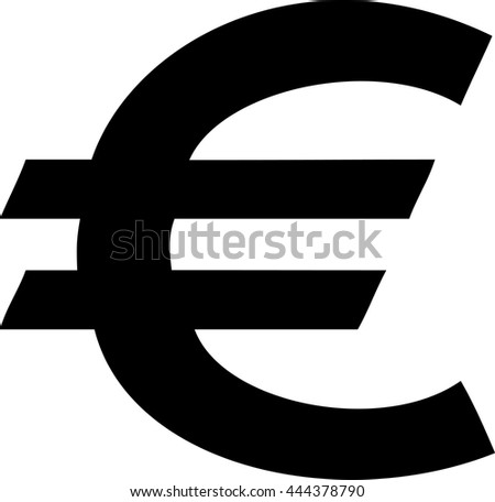 Euro Symbol Eu Currency Icon Stock Vector Royalty Free 444378790