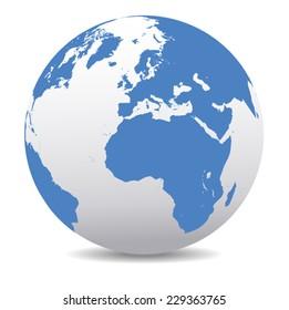 Europe and Africa Global World