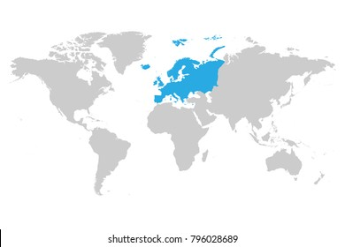 Map Of Europe With France Highlighted.Imagenes Fotos De Stock Y Vectores Sobre World Map