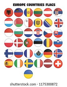 Europe Countries Flags