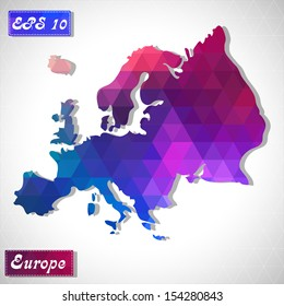 Europe. EPS10 file version. This illustration contains transparency and is layered for easy manipulation and custom coloring.