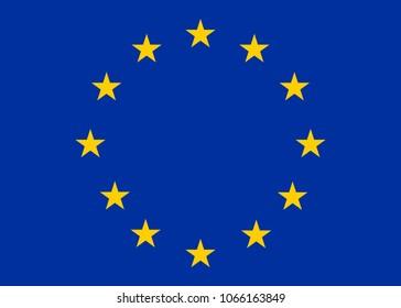 Europe flag back