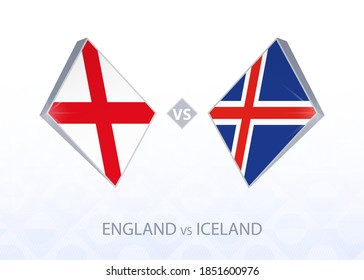 Europe football competition England vs Iceland, League A, Group 2. Vector illustration.