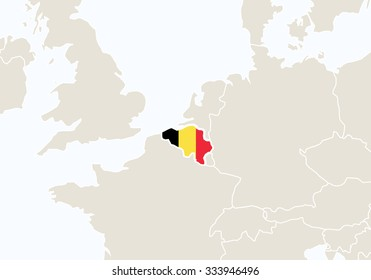 Europe highlighted belgium map rasterized copy stock illustration europe with highlighted belgium map vector illustration gumiabroncs Images