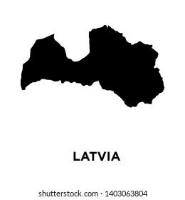 europe - latvia map icon vector design template