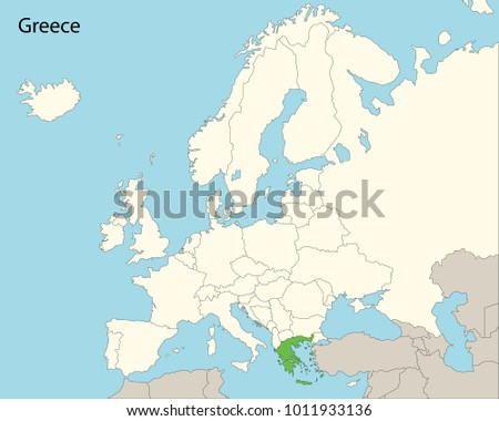 Europe Map Greece Stock Vector Royalty Free 1011933136 Shutterstock
