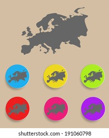 Europe Map - icon isolated. Vector illustration