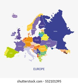 EUROPE MAP illustration vector