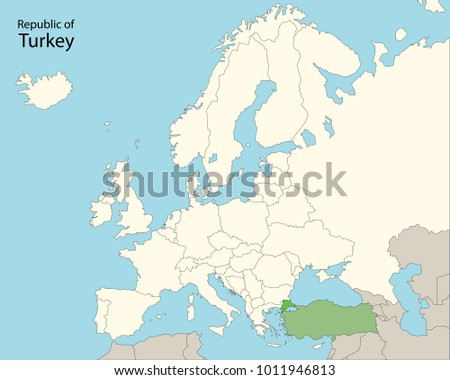 Map Of Europe And Turkey.Europe Map Turkey Stock Vector Royalty Free 1011946813 Shutterstock