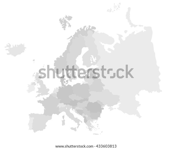 graphic relating to Map of Europe Black and White Printable With Names referred to as Europe Revolutionary Comprehensive Map All Eu Inventory Vector