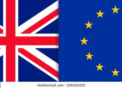 Europe and United Kingdom flags