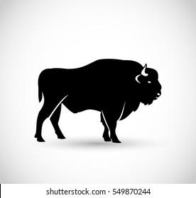 European bison icon vector